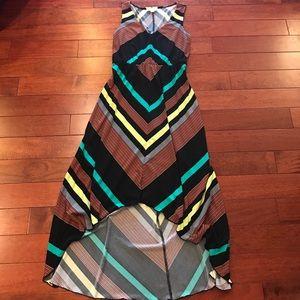 👛high low chevron stripe dress