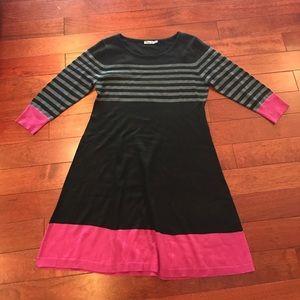 👛stripe sweater dress