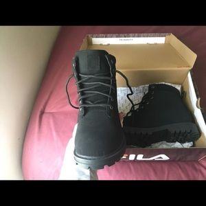 684c47db Brand new never worn black FILA boots