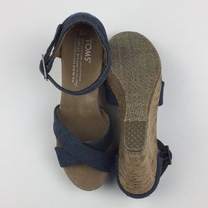 Toms Shoes - TOMS Denim Cork Wedges