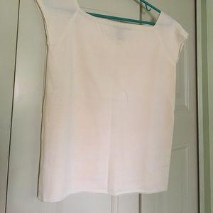 DKNY cream colored short sleeve sweater