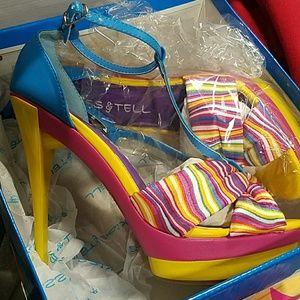 candy wonderland themed heels