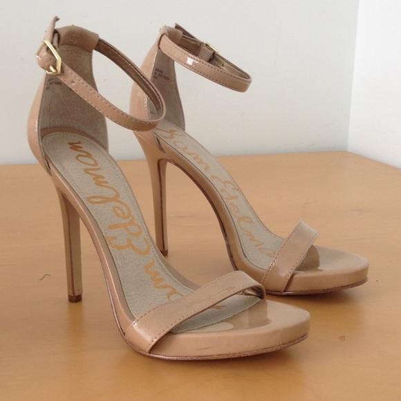 69b066aa5782 Sam Edelman Eleanor patent nude heels. M 59dce7b77fab3a3fc100fd3d