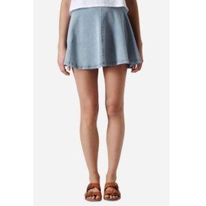 TopShop Jean Skater Skirt Size 6
