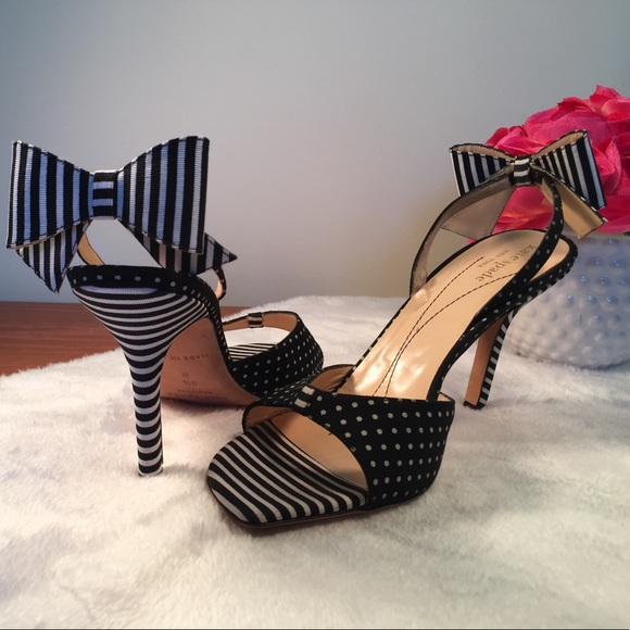 3ae42d58567 kate spade Shoes - Kate Spade Black and White Bow Heels