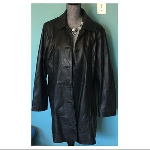 Wilsons Leather Jacket Coat 1X Black Plus Size