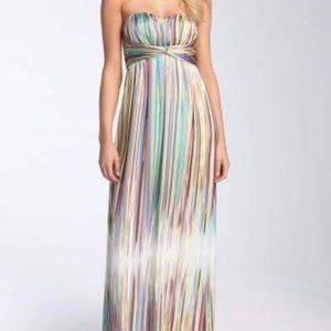 Jessica Simpson Sweetheart Charmeuse Maxi Dress