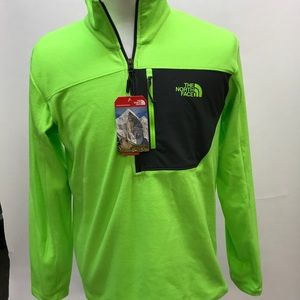 0099ef03a The North Face Tech 1/2 Zip Mens Neon Green Medium NWT