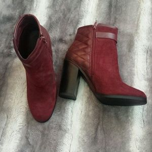 Deep wine ankle boots