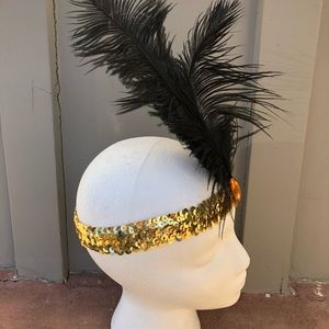 Flapper girl  hair piece accessories feather band