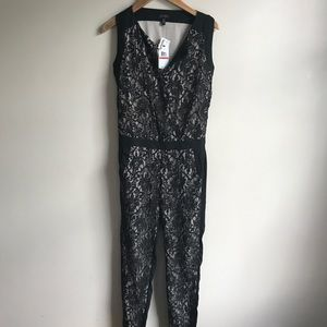 Jessica Simpson Black Lace Jumpsuit