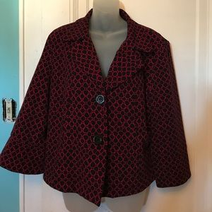 Studio 1940 Red And Black Blazer Size XL
