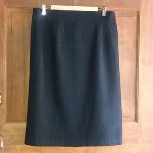 Sag Harbor Black Wool Skirt, 16W