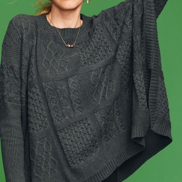 54% off CAbi Sweaters - Cabi cable poncho from Beth's closet on ...
