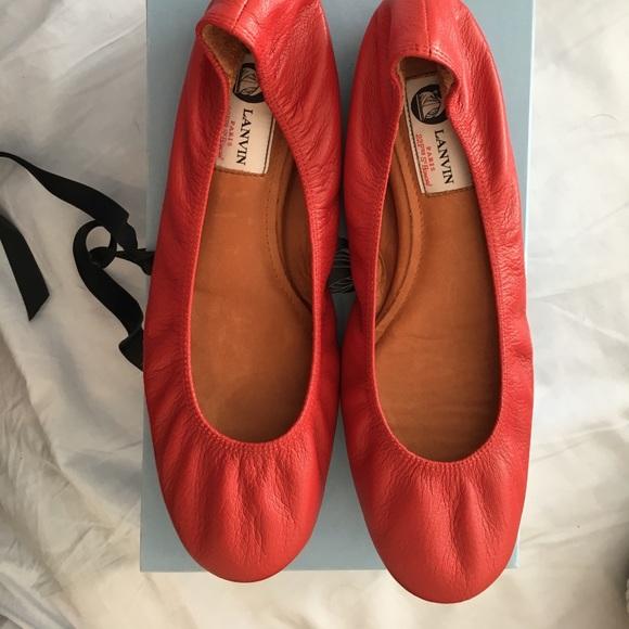 545b0239494e NIB Red Lanvin Ballet Flats 40