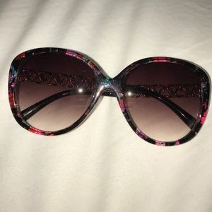 Dark floral sunglasses