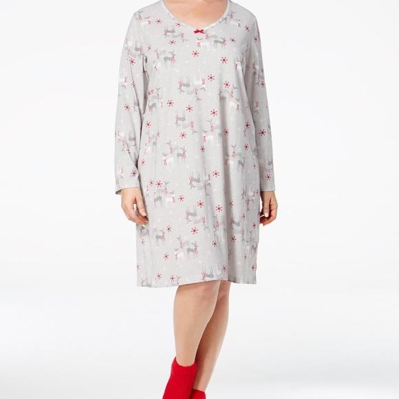 Charter Club Knit Sleepshirt Nightdress Socks Set 4f8cbfd99