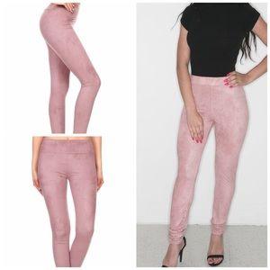 Pants - ✨New! Faux Suede Leggings (Mauve Edition)
