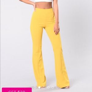 outlet on sale size 7 official images Fashionnova Mustard yellow bell bottom pants