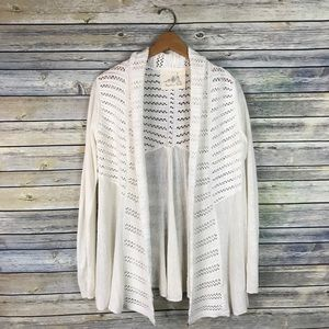 Angel of the North Anthropologie Cream Cardigan