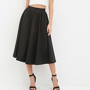 Forever 21 A-Line Midi Skirt