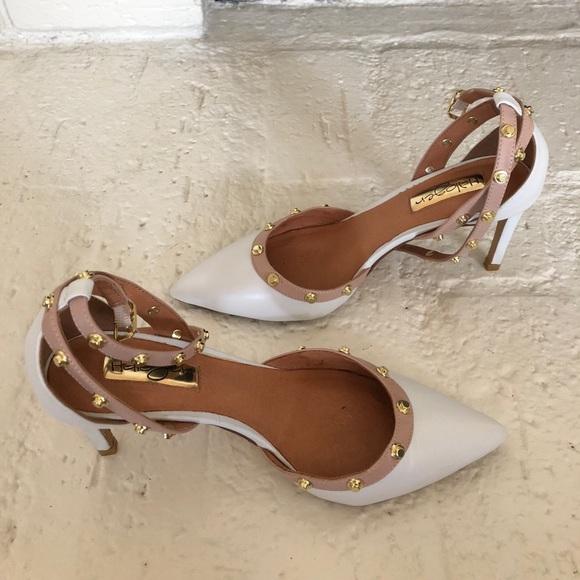 b283c4f99916 Halogen Shoes - Halogen white studded heels
