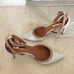 Halogen white studded heels