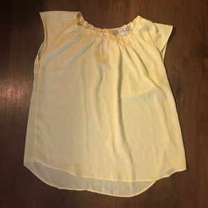 LC Lauren Conrad yellow top with bow back