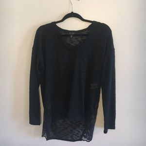Jessica Simpson High-Low Lace Detailed Sweater