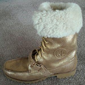 💲PRICE ⤵❗*RALPH LAUREN Loafer Boots w/ Fur Lining