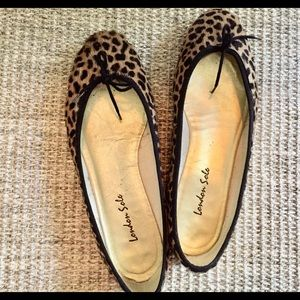 London Sole calf hair ballet flats