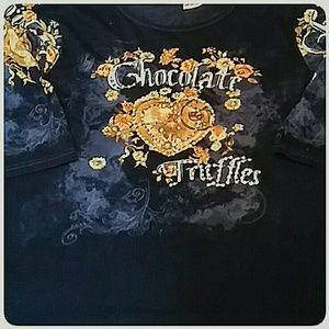 Liz & Me Tops - Liz & Me  Long Sleeve Tee Shirt Chocolate Truffle