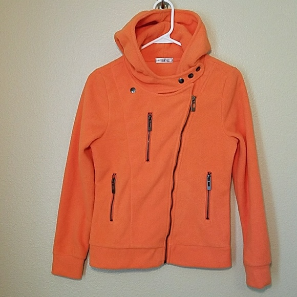 j tomson Jackets   Blazers - J Tomson Doubl Ju Orange zippered fleece jacket 5a2042802