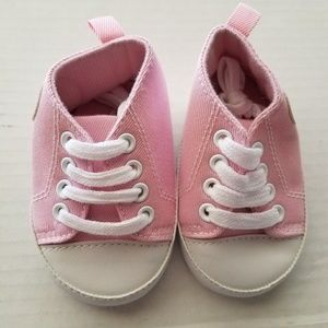 Pink Baby Shoes Toddler Size 11 Lace up Sneakers