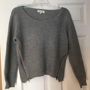 Gray zip sweater