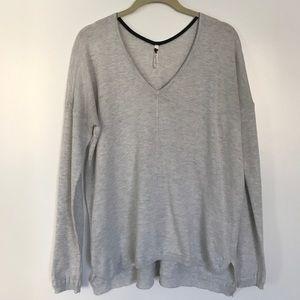 Gray Knit Pullover