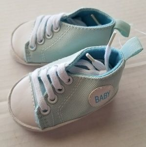 Baby Shoes Kids Blue White Lace-Up Sneakers Casual