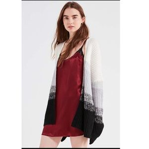 NWT UO Oversized ombre striped cardigan