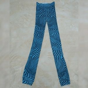 Accessories - Turquoise striped footless tights
