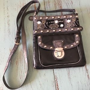 Handbags - Black Crystal and Stud Purse