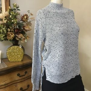Rumor boutique lace up sweater