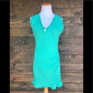 Tulle Women's Mini Dress Sleeveless w/Pockets Sz M