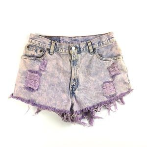 Vintage Destroyed, Bleached & Dyed Levi's Shorts