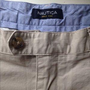 Nautica flat front pants true stone color