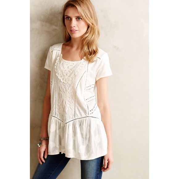 a27e7451eb8 Anthropologie Tops - Meadow Rue Pintucked Peasant Blouse