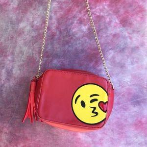 Olivia Miller Bags - Olivia Miller Flirty Wink Kiss Emoji Red Purse