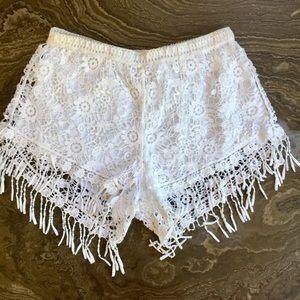 LA Hearts Lace Boho Shorts