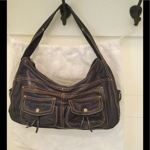 Cynthia Rowley Gray Large Satchel Bag Handbag