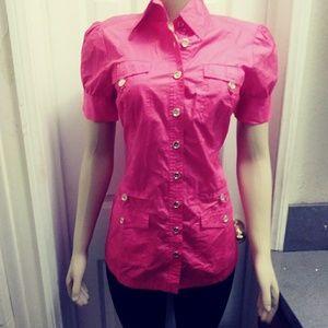 Bebe Hot Pink Long Shirt
