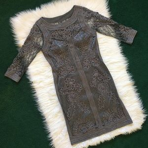 Sue Wong Embroidered Lace Long Sleeve Dress 10